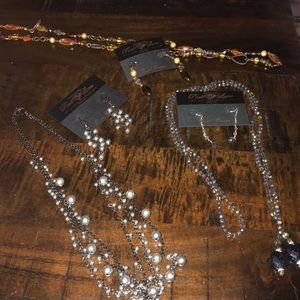 Park Lane necklace and earring lot